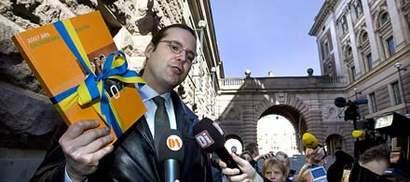 Anders Borg med vårbudgeten.