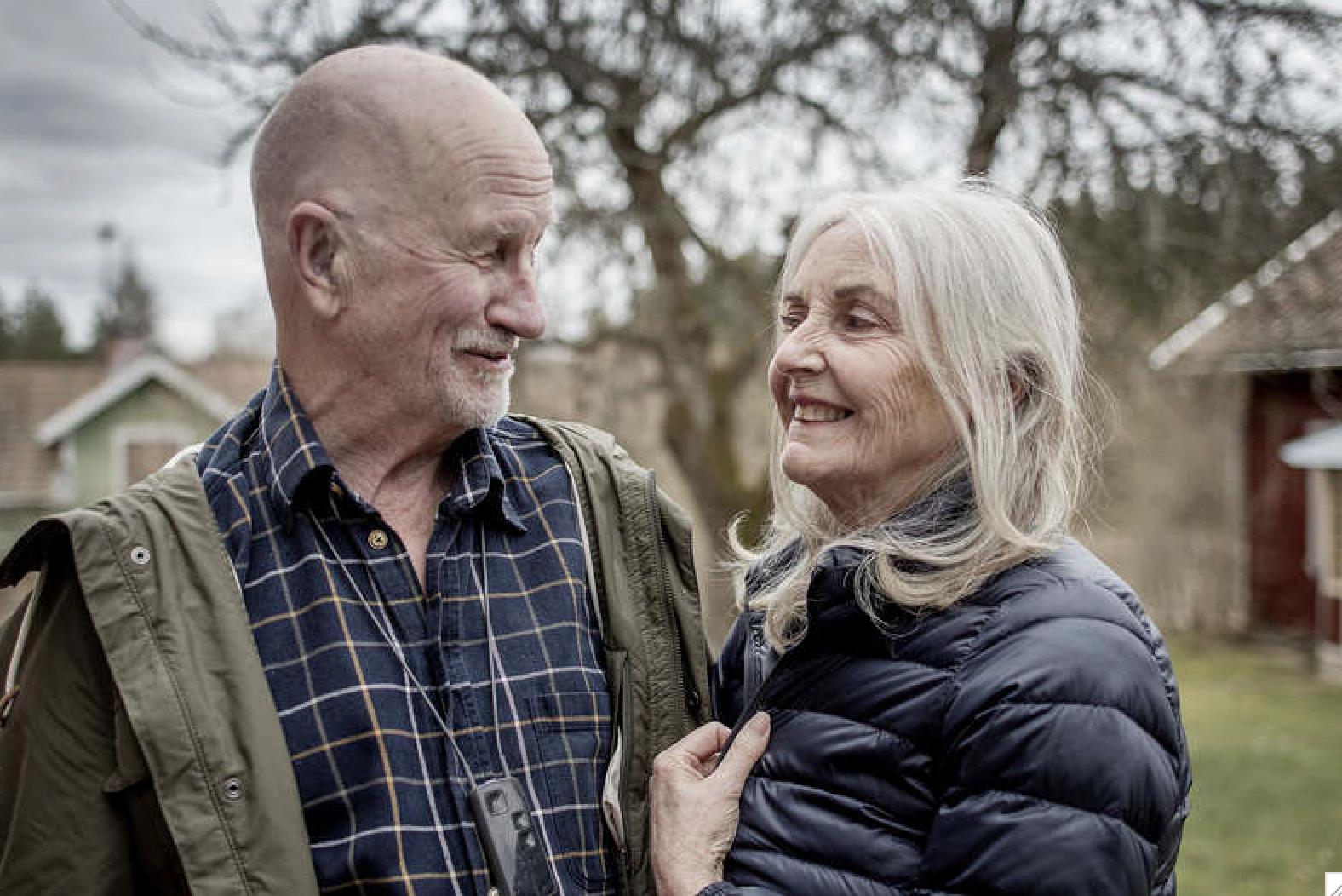 Bosse Larsson och hans fru Lisbeth