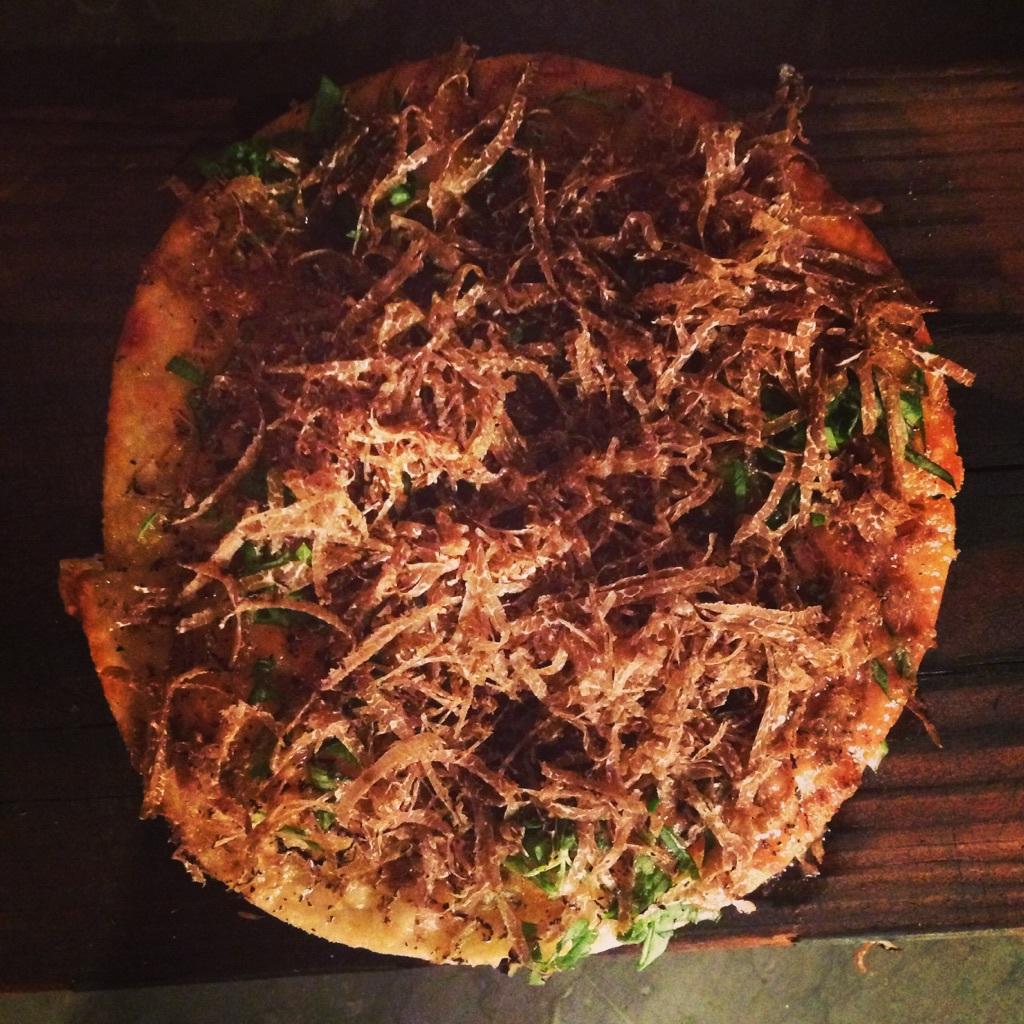 Ekstedts tryffelpizza som jag var beroende av förra hösten.