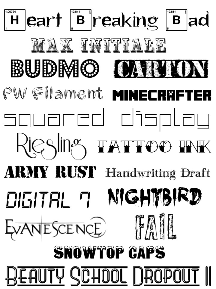 typsnitt, grafiska prints