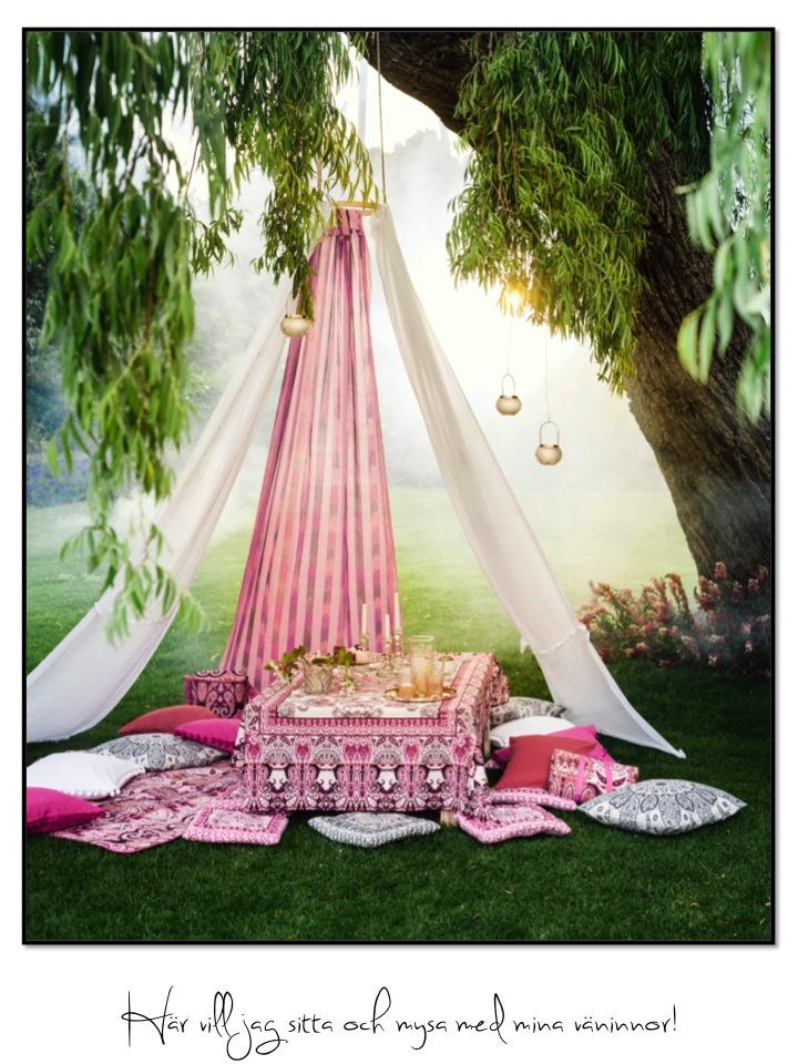 H&M, uteliv, dukning, veranda