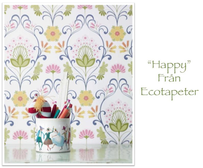 Ecotapeter, tapetnyheter, midbec, intrade, tapeter, wallpaper, blommigatapeter