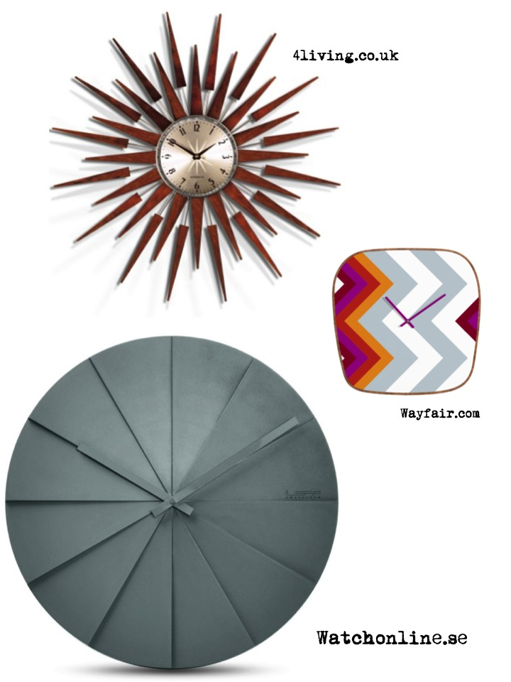 klockor, väggklocka, wall clock, design