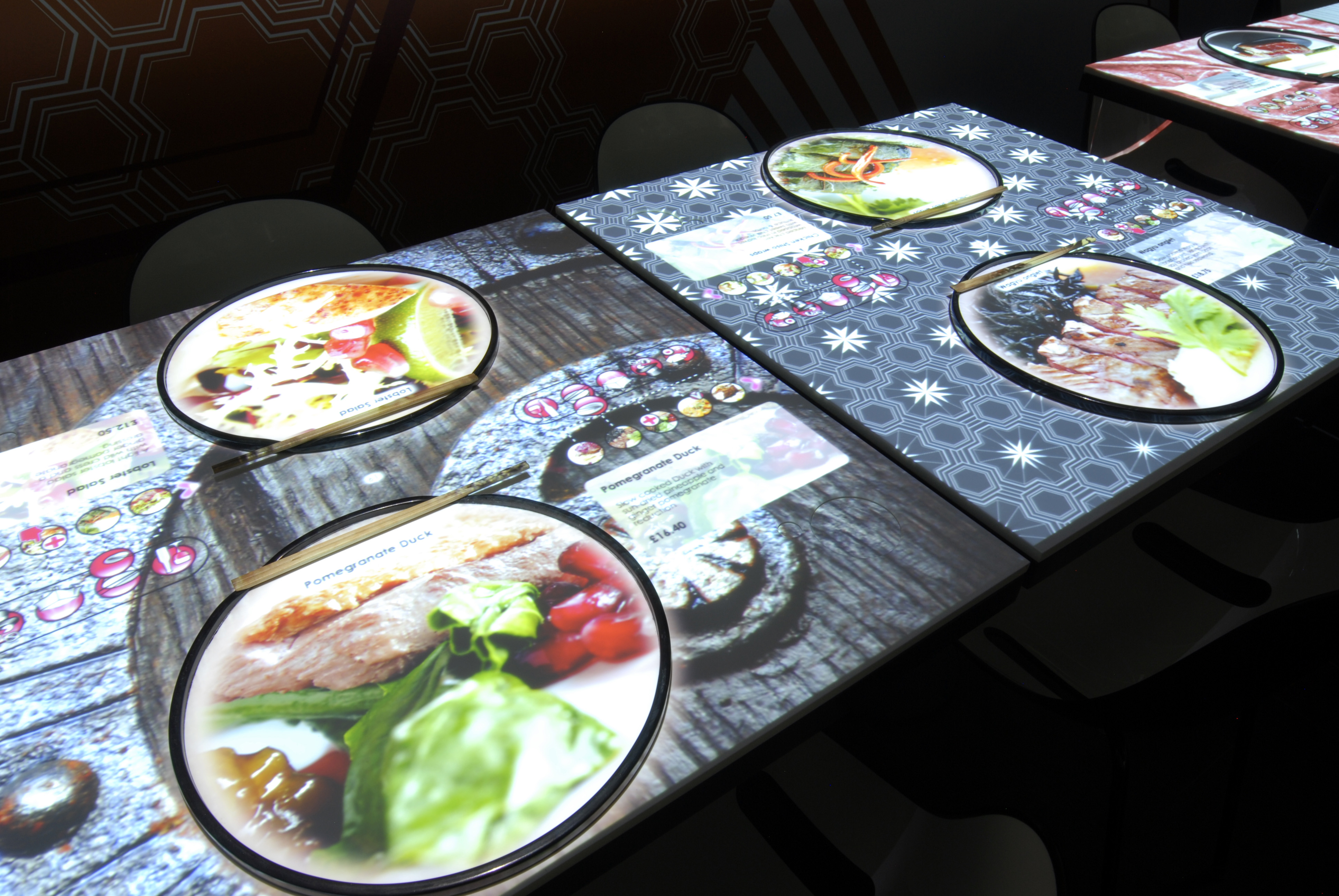 Restauranger i london citykoll - Tavolo touch screen ...