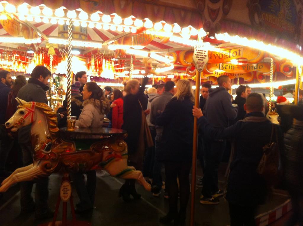 En favorit på Winter Wonderland - den snurrande karusellbaren.