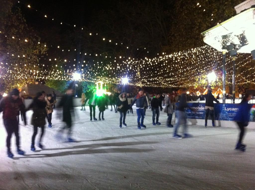 Glatt i Hyde Park: Gå på isbanan och du kommer garanterat att vara bäst.