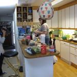 Så här ser köket ut i all sin prakt. På tv syns oftast inte så mycket av köksmiljön.