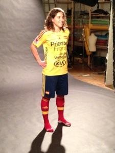 Veronica Boquete poserar för Sportbladets fotograf.