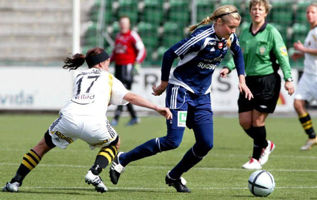 Anna Holmlund i Sundsvalls DFF. Foto: Nils Jakobsson för Sundsvalls Tidning.