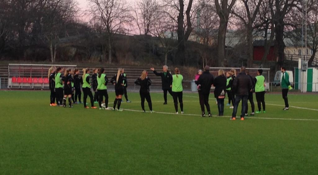 Nanne Bergstrand tränar Hammarbys damer.
