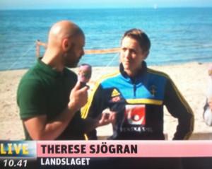 Undertecknad i intervju med Therese Sjögran under EM förra sommaren.