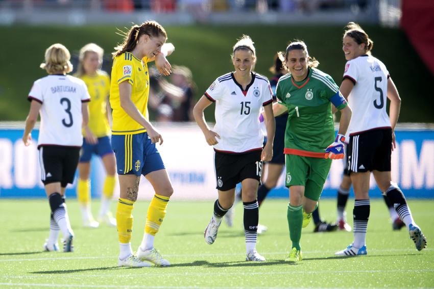 Fotboll, Dam, VM, ttondelsfinal, Tyskland - Sverige