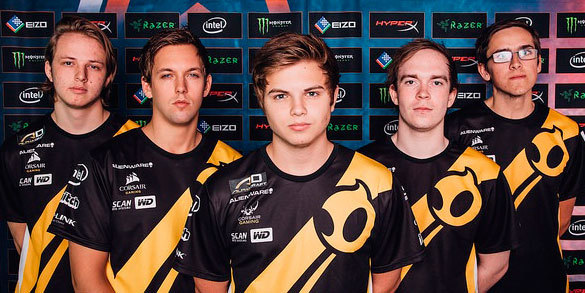 Team Dignitas at Dreamhack Stockholm. Photo: Dreamhack