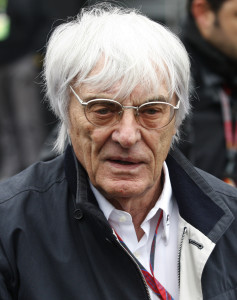 Bernie Ecclestone, president and CEO of Formula One Managment is seen in the  paddock prior to the Formula One German Grand Prix at the Nuerburgring circuit in Nuerburg, Germany, Sunday, July 24, 2011. (AP Photo/Petr David Josek)