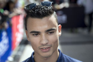 Sauber Formula One driver Pascal Wehrlein of Germany speaks with press at the 'Sochi Autodrom' Formula One circuit, in Sochi, Russia, Thursday, April 27, 2017. The Russian Formula One Grand Prix will be held on Sunday April 30. (AP Photo/Pavel Golovkin)
