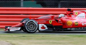 F1 - Formula One - British Grand Prix 2017 - Silverstone, Britain - July 14, 2017 Ferrari's Sebastian Vettel in action testing the shield cockpit protection device REUTERS/Jason Cairnduff