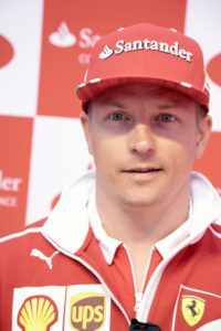 Finnish Formula One driver Kimi Raikkonen of Ferrari poses at a media meeting of his sponsor Santander Bank in Helsinki, Finland on August 22, 2017. Kimi Raikkonen has signed a one-year contract extension with Ferrari for the 2018 season, the Formula One team announced on August 22, 2017. / AFP PHOTO / Lehtikuva / Aleksi Tuomola / Finland OUT