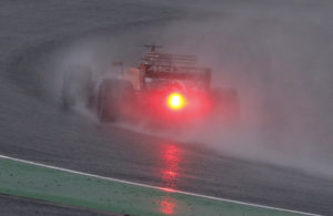McLaren driver Fernando Alonso of Spain steers his car in the rain during the second practice session for the Japanese Formula One Grand Prix at Suzuka Circuit in Suzuka, central Japan, Friday, Oct. 6, 2017. (AP Photo/Toru Takahashi)