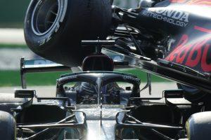 Kollisionen mellan Max Verstappen och Lewis Hamilton