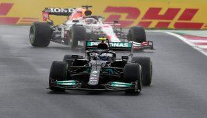 Max Verstappen och Lewis Hamilton
