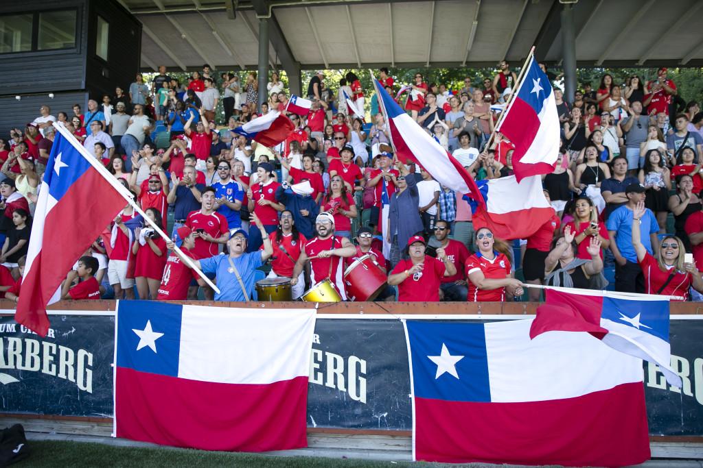 Publikfest. Sangre Chilena FC har fått ett fantastisk stöd under hela veckan. Foto: Anders Deros