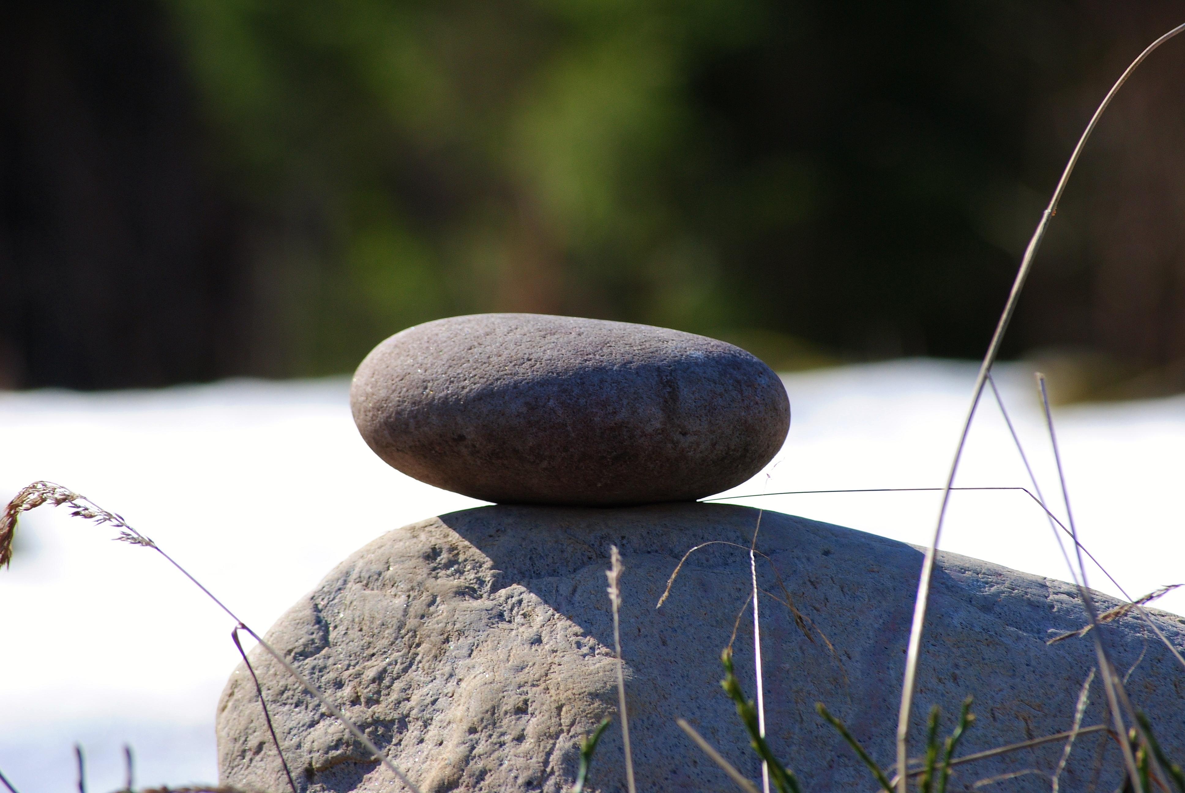 Rund sten som blickfång