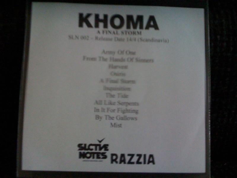 """Khoma """"A final storm"""""""