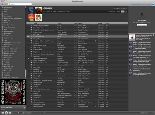 Spotify maj 2012