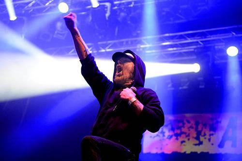 Tompa Lindberg i At The Gates under konserten i Örebro för två veckor sedan. Foto: CONNY SILLÉN