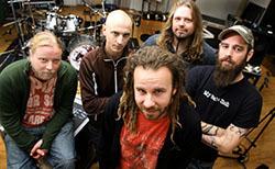 Jesper Strömblad tillsammans med resten av In Flames 2007.