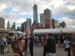 En del av utsikten, med Freedom Tower i bakgrunden.