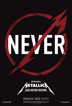 """Metallica: Through the never"" går upp på IMAX-biografer i USA den 27 september och i vanliga salonger den 4 oktober."