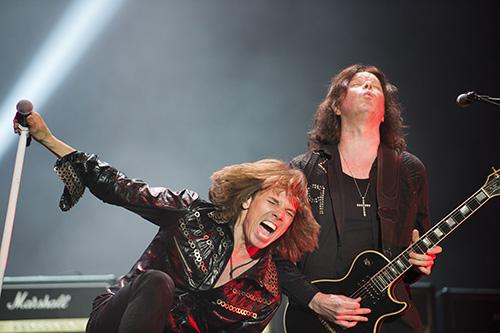 Joey Tempest och John Norum på förra årets upplaga av Sweden Rock. Foto: Rickard Nilsson