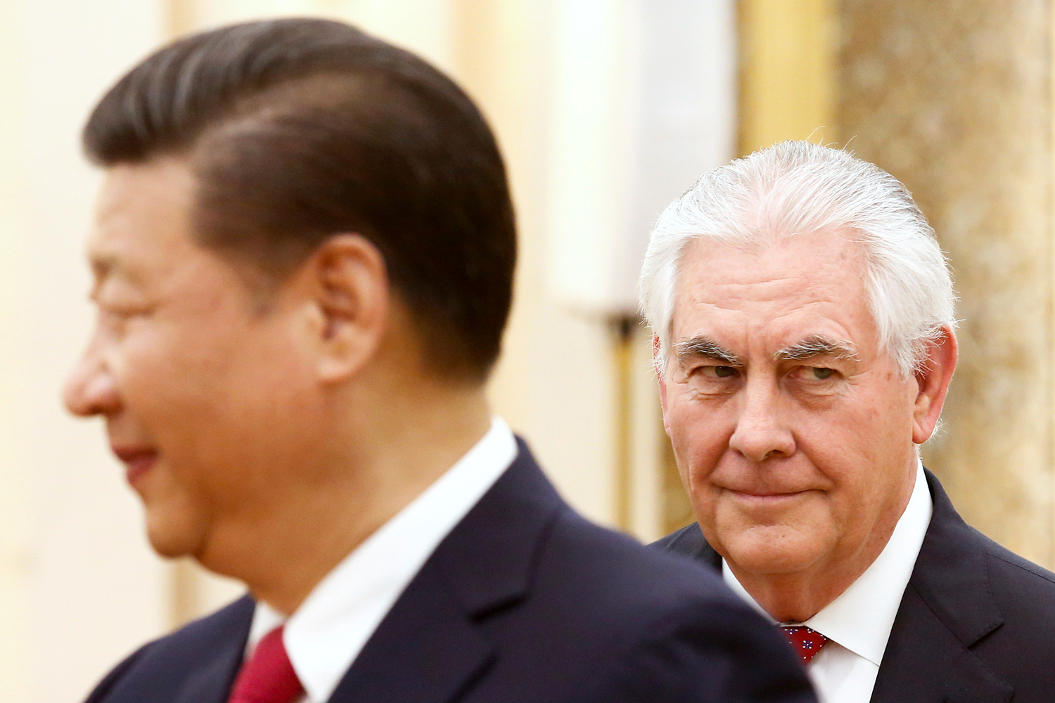 BEIJING 2017-03-19 China's President Xi Jinping meets U.S. State of Secretary, Rex Tillerson at the Great Hall of the People in Beijing, China, March 19, 2017. REUTERS/Thomas Peter TPX IMAGES OF THE DAY Photo: / REUTERS / TT / kod 72000