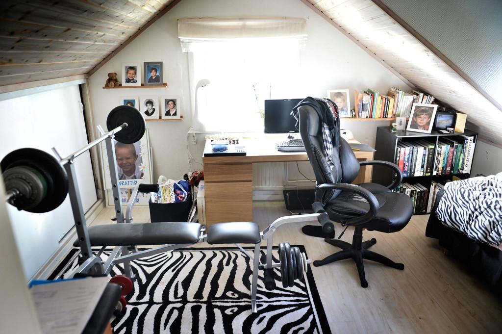 Jims rum ser i stort ut som när han levde. Foto: Stefan Mattsson