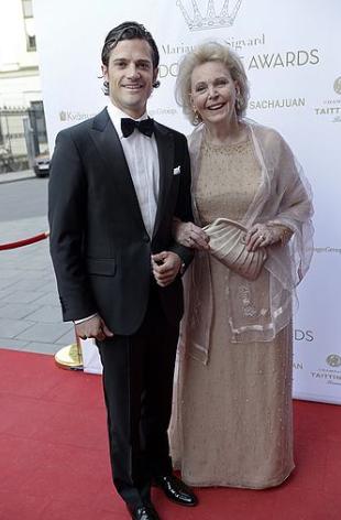 Marianne och prins Carl Philip 2013.