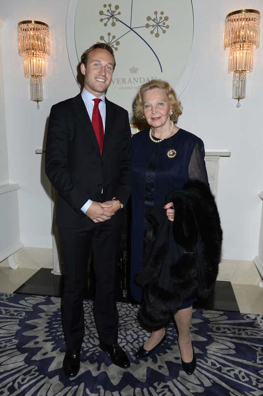 Marianne och barnbarnet Nicholas.