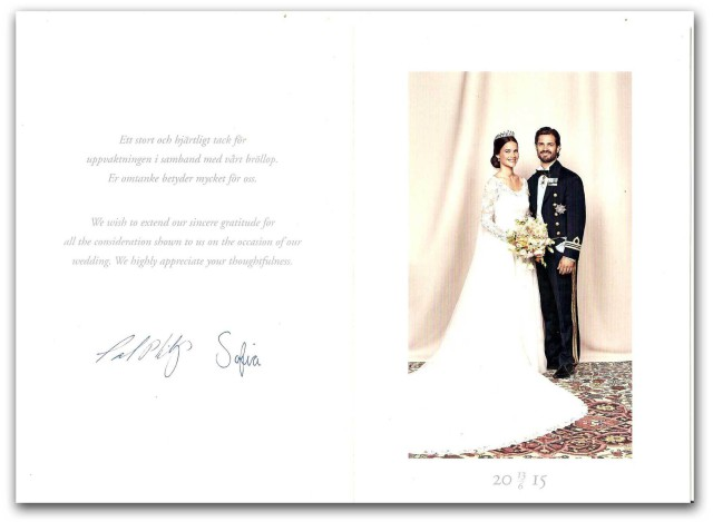 80976c324475 Ett tackkort från prins Carl Philip och prinsessan Sofia | Hovbloggen