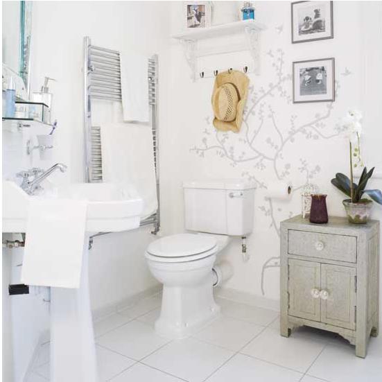 Här kommer några fler inspirerande badrum från tidningen Living etc ...