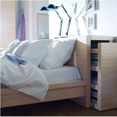 sänggavel förvaring