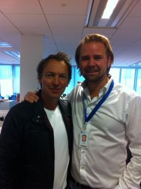 Lennart Ekdahl, programledare för nya Brottscentralen med Anders Sundberg från Brand New Content som producerar.