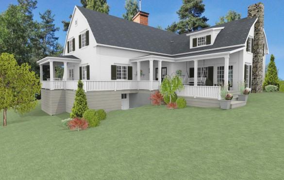 Förslag 1 -Fasad mot sydväst