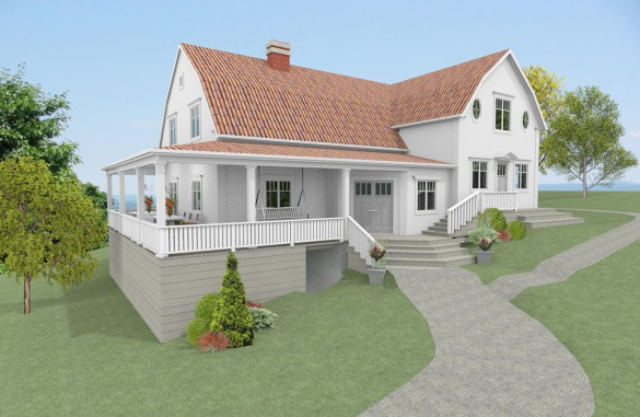 Förslag 6 - Fasad mot sydväst