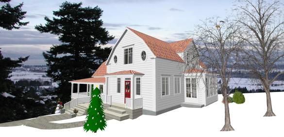 Förslag 8 - tak över groventré