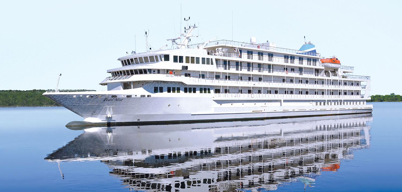 Pearl Mist är sex däck hög och har 108 hytter.. Foto: Pearl Seas Cruises