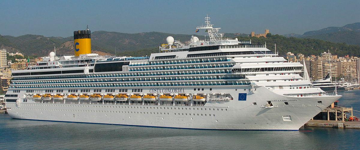 Costa Concordia – före haveriet. Foto: Jean-Philippe Boulet/Wikimedia Commons