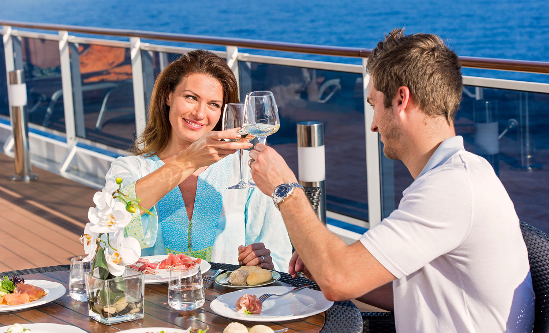 Njut av goda viner både till havs och på land. Foto: MSC Cruises