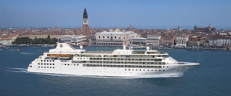 Silverseas fartyg Silver Wind i Venedig. Foto: Silversea Cruises