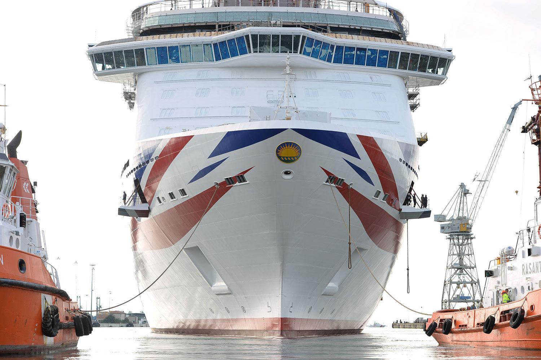 Fartyget är på 141 000 bruttoton. Foto: P&O Cruises