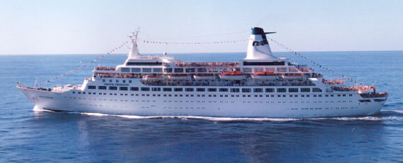 """The Love Boat"", fartyget Pacific Princess, numera skrotat. Foto: Dashers/Wikimedia Commons"